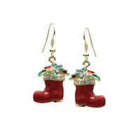 X MAS BOOT HOOK EARRING