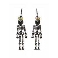 Halloween Dangly Skeleton Earrings