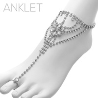 ANKLET AND TOE RINGS SLAVE BRACELET