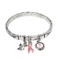 RUSTIC MESSAGE DOUBLE STRETCH-PINK RIBBON