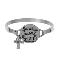 HIS WILL. HIS WAY. MY FAITH WIRE BRACELET