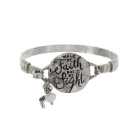 FOR WE WALK BY FAITH WIRE BRACELET