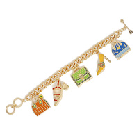 TOOGLE BR W/ SHOE AND PURSE CHARMS