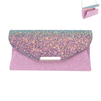 GLITTERY ENVELOPE EVENING BAG