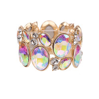 Oval Gem Cluster Stretch Bracelet Bq6Gab