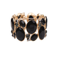 Oval Gem Cluster Stretch Bracelet Bq6Gjt