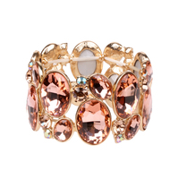 Oval Gem Cluster Stretch Bracelet Bq6Gph