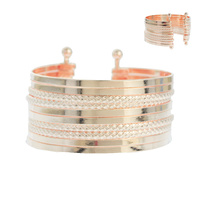 STACKED LAYER METAL CUFF BRACELET