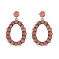 WESTERN TQ OVAL EARRINGS