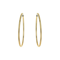 ENDLESS METAL HOOP EARRING