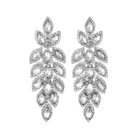 DANGLY MARQUISE STONE BRIDAL EARRING