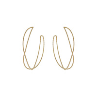 TEXTURED TWISTED METAL HOOP EARRING