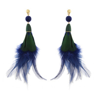 DANGLY FEATHER EARRING