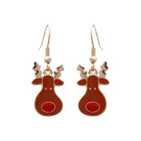 FISH HOOK RUDOLPH EARRING