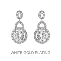 Round Dangly Cz Earrings Ecz3288Rcl
