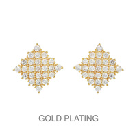 Square Cz Stud Earrings Ecz4600G