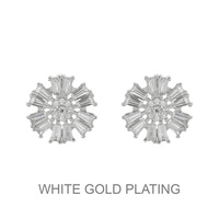 Cz Burst Snowflake Stud Earrings Ecz4617R