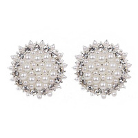 PEARL WITH STONE BURST STUD EARRINGS