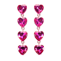 HEARTS CHANDELIER STONE EARRING