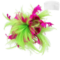 Bendable Feather Hair Comb Fascinator