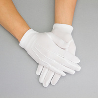 WHITE BRIDAL GLOVES W/CREASES ON FRONT MEDI