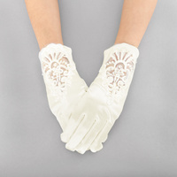 CLASSY EMBROIDERED SATIN GLOVE