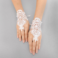 PEARL FLOWER LACE GLOVE