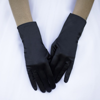 SHORT SATIN GLOVES