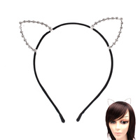 CUT OUT CAT EAR STONE HEAD BAND