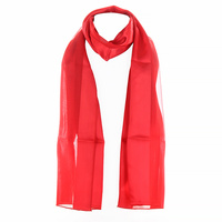 Satin And Chiffon Striped Scarf Hg7000Rd
