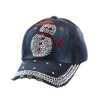 SNOWMAN DENIM CAP