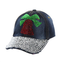 CHRISMAS BELL DENIM CAP
