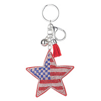 STONED STAR FLAG PRINT KEYCHAIN