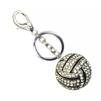 VOLLEY BALL RHINESTONE KEYCHAIN