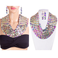 LRG STONE BIB NECKLACE