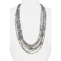 LAYERED BEADED NECKLACE SET