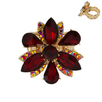 MARQUISE STONE FLOWER STRETCH RING