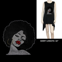 SOUL AFRO QUEEN HOOP BLING SHIRT