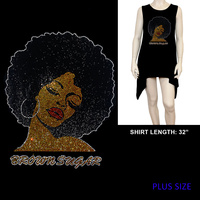 PLUS SHIRT BROWN SUGAR AFRO
