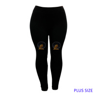 PLUS LEGGINGS BROWN SUGAR AFRO
