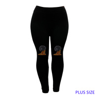 PLUS LEGGINGS BROWN SUGAR RED EAR
