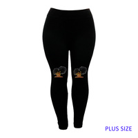 PLUS LEGGINGS BROWN SUGAR DOUBLE BU