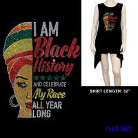 PLUS SHIRT BLACK HISTORY