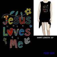 PLUS SHIRT JESUS LOVES ME