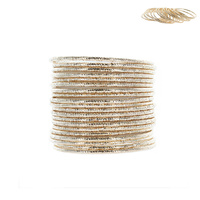 MULTI DIAMOND CUT BANGLE SET