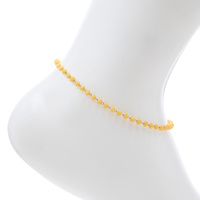 3MM GLASS BEAD ANKLET