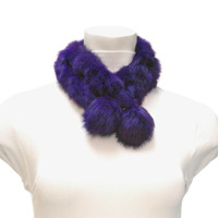 Real Rabbit Fur Neck Wrap Scarf